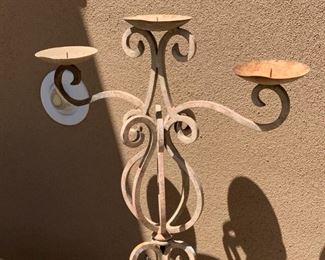 Heavy Wrought Iron 3 Tier Candle Stand	53in H x 22in W		19545