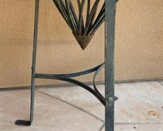 Med Wrought Iron Vase w/ Stand	38x15in Diameter		19538