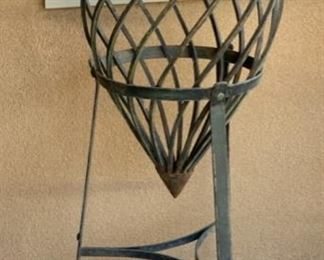 Lg Wrought Iron Vase w/ Stand	48in H x17in Diameter		19537