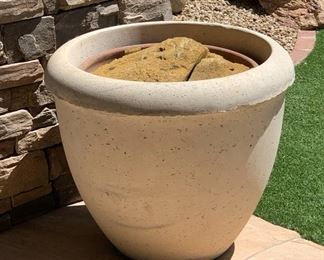 #3 Large Cast Stone Planter/Pot	25in H x 28in Diameter		19535