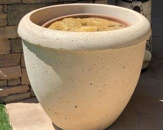 #2 Large Cast Stone Planter/Pot	25in H x 28in Diameter		19534