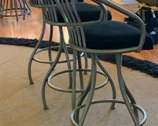 3pc Johnston Casuals Contemporary Counter Height Chairs Swivel  Bar Stool	43x20x19in seat height: 30in	HxWxD	19532