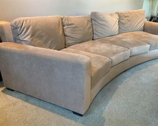#2 10ft Contemporary Ultra Suede Curved Sofa/Couch	35x121x45in	HxWxD	19501