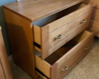 Crate and Barrel Natural Wood Lateral File Cab	29x32x18in	HxWxD	19666