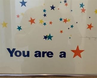 You are a Star Mickey Myers Framed Poster Pop Art	34 x 17		19662