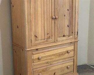 Broyhill Fontana Knotty Pine Wardrobe Dresser Armoire63x42x20inHxWxD