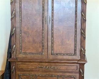Ornate  Burlwood Wardrobe Dresser Armoire90x51x26inHxWxD
