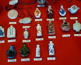 Collection of Various Chinese Snuff Bottles