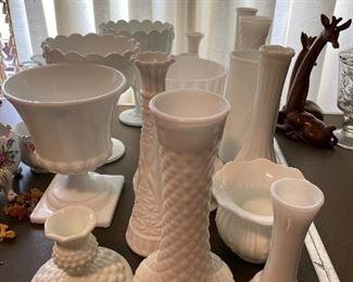 All Milk Glass Shown $50.00