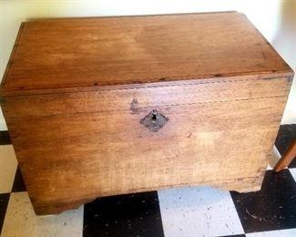 Vintage handmade trunk