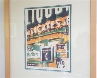 Dave Lefner signed print