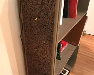 Bookcase with cork sides