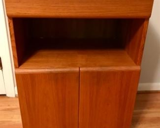 Rolling Danish storage cabinet