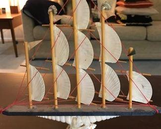 Ship made of shells