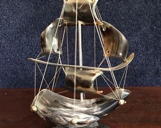 Ship made of bone