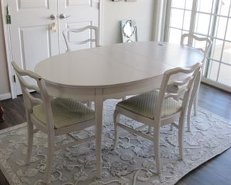 $75.00, Antique painted table with 6 painted Chairs, has some damage to top chairs in VG condition Shabby Chic