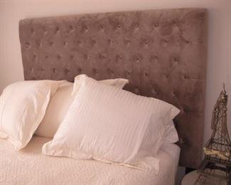 Gray Fabric queen headboard $75.00, new