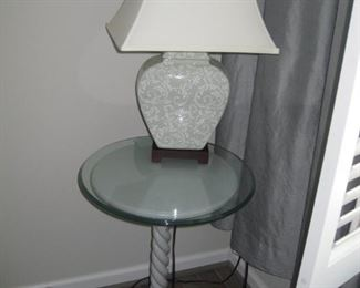 Lamps and occasional tables