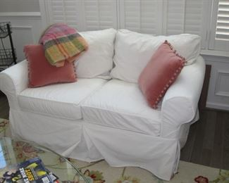 $300.00, Pottery Barn love seat