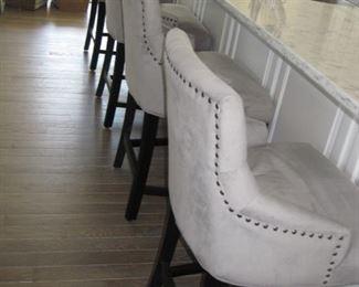 $180.00, 4 fabric bar chairs