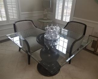 $150.00, quare glass top dining table