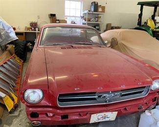 1964 1/2  Mustang  also runs and drives