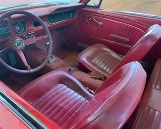 Interior of Mustang