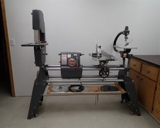 SHOP SMITH 2002 MARK V - WITH LOTS OF ATTACHMENT INCLUDED WITH THE SYSTEM