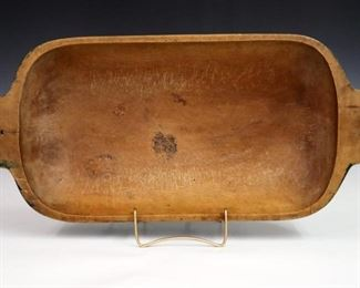 Late 19th century oval wooden bowl