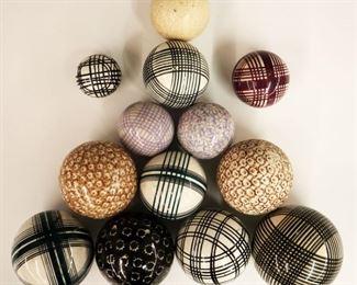 late 19th century/ early 20th century carpet balls