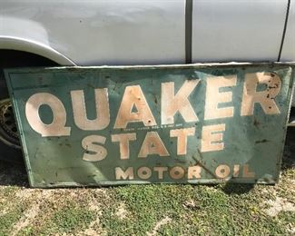 1950's tin sign roughly 4x6