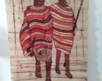 Hand-painted cloth unframed