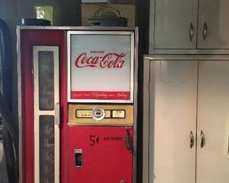 COLD Coca Cola's inside. Works great!