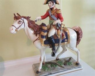 Vintage Dresden Napolean on horseback figurine