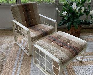 #1Vintage Werzalit patio chair $50.00                             #3 Vintage Werzalit ottoman 2 @ $30
