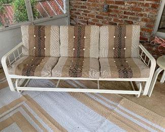 """#4Vintage Werzalit patio glider sofa 71""""L $100.00"""