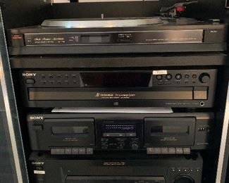 #30	Fisher MT-716 turntable	 $40.00 		 	#31	Sony 5 compact disc player CDP-CE-375	 $40.00 		 	#32	Sony Dual cassette deck TCWE305	 $40.00 		 	#33	Sony AM FM receiver STRDE185	 $40.00