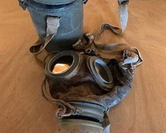#42WWI German Gas Mask with Can $100.00
