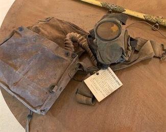 #43US 1918 Gas Mask with Bag $75.00