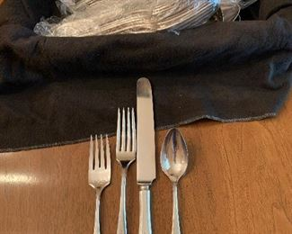 #48Community Plate silver plate 12 4 piece place setting plus 6 serving pieces and extra pieces $50.00