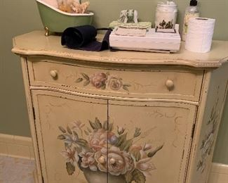 """#58Painted cabinet 36""""x15""""x31"""" $35.00"""