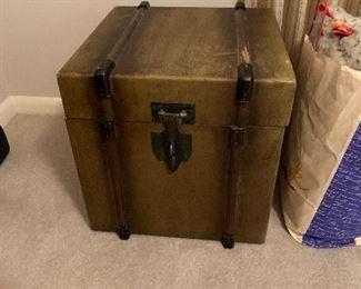 "#67Wooden box. As is - loose hinge. 18"" $30.00"