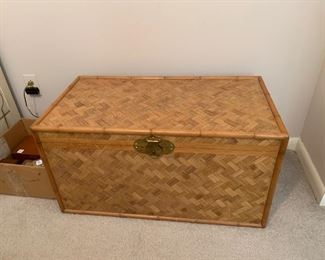 """#76Bamboo and wood trunk  32""""x17""""x17"""" $40.00"""
