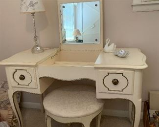 """#77Century French provincial vanity with stool 43""""x20""""x29"""" $100.00"""
