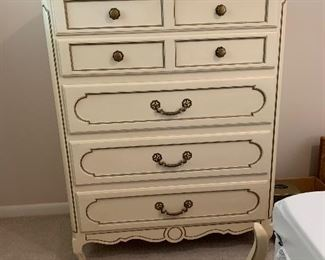 """#78Century French provincial chest of drawers 5 drawers 38""""x19""""x46"""" $125.00"""