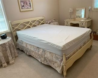 #75Full size Century French Provincial headboard, footboard and mattress set $100.00