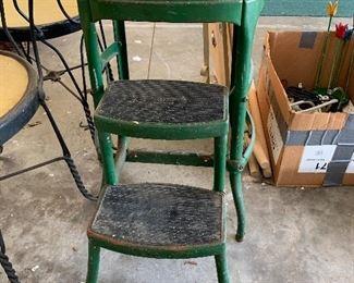 #87Vintage Cosco green step stool $10.00