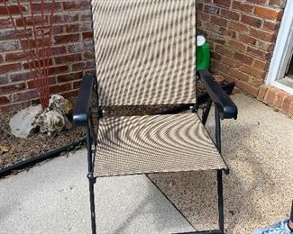 #91Outdoor folding chair $10.00