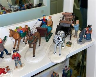 $1-$15 EACH LEMAX CHRISTMAS FIGURINES / HOLIDAY HORSE CARRIAGE FIGURINES