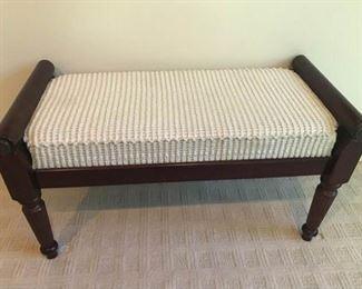 https://ctbids.com/#!/description/share/537410 Beautiful Wooden Bench With Cushion. https://ctbids.com/#!/description/share/537410